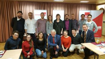 Mit den Jusos bei der Stimmkreiskonferenz, auf der ich als Landtagskandidat nominiert wurde.