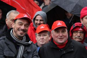 """""""Wir für mehr"""" – unter diesem Motto stand die in Augsburg beginnende Tarifrunde der IG Metall (mit meinem Landtagskollegen Linus Förster und Wolfgang Peitzsch vom DGB)."""