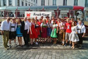 Beim Plärrerumzug mit der Augsburger SPD und unserer Landesvorsitzenden Natascha Kohnen.