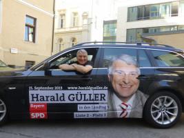 Mein Wahlkampfauto für die Landtagswahlen am 15. September 2013.