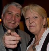 Hannelore Kraft, die Landesvorsitzende der SPD in Nordrhein-Westfalen, hatte viel Spaß auf dem 65. Geburtstag von Christian Ude in München - ich übrigens auch.