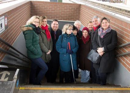 BayernSPD inspiziert Bahnhof Kaufbeuren (Januar 2015)