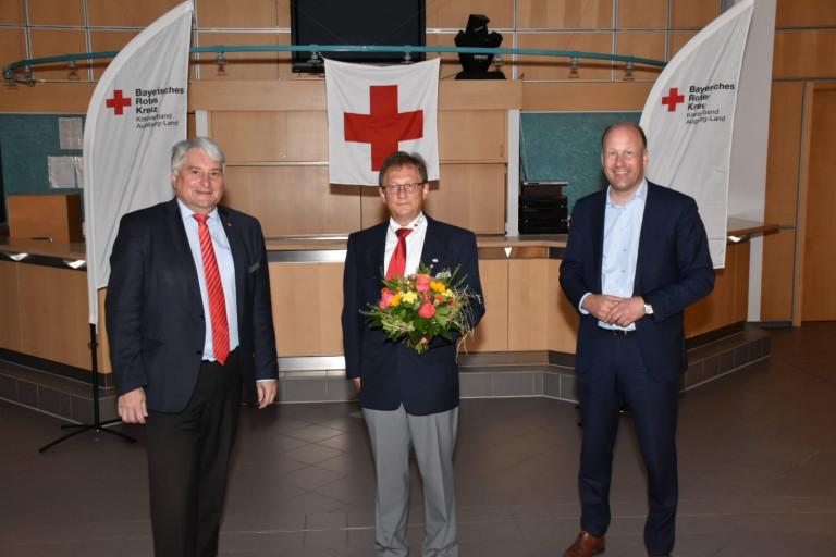 Der alte und der neue Vorstand, v.l. Harald Güller, Paul Steidle, Martin Sailer