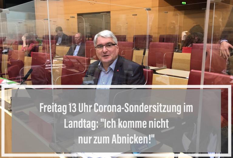 Sondersitzung Corona im Landtag