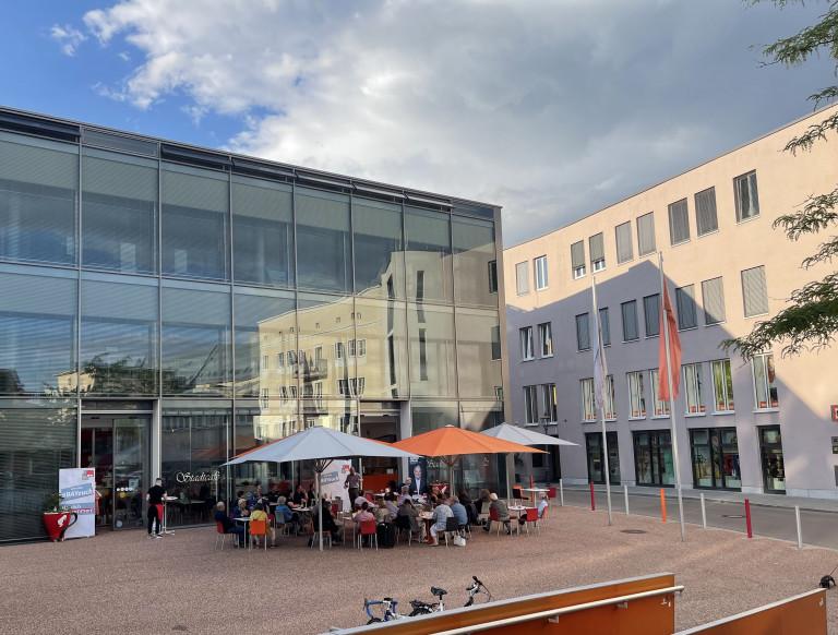 Im Stadtcafé Augsburg