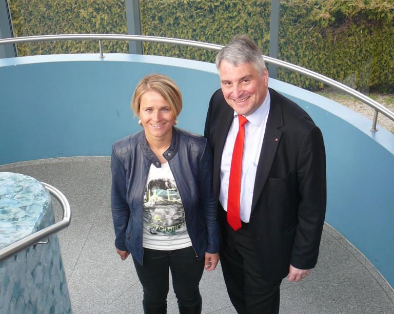 Verena Bentele zu Besuch in Wehringen