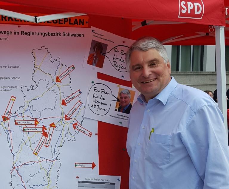 Beim ACE-Verkehrssicherheitstag habe ich den Bundesverkehrswegeplan für die Region Augsburg vorgestellt.